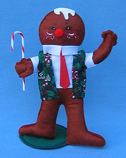 "Annalee 10"" Christmas Cookie Gingerbread Boy - Mint - 729999ox"
