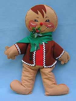 """Annalee 18"""" Gingerbread Boy with Brown Jacket - Excellent - 730083a"""