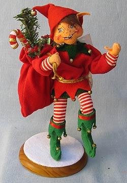 "Annalee 10"" Jingle Bells Elf - Mint - 734902"
