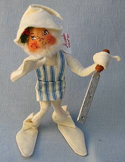 "Annalee 10"" White Workshop Elf with File - Mint - 735081whsmfl"