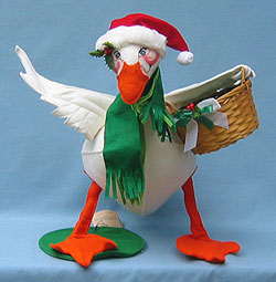"Annalee 24"" Christmas Goose with Basket - Mint - 740487"