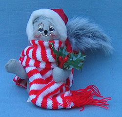 """Annalee 5"""" Christmas Squirrel - Mint - 742301ox"""