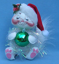 "Annalee 10"" Kitten - Cat with Ornament - Mint - 742793xx"