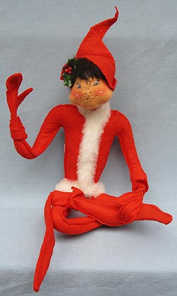"""Annalee 22"""" Christmas Elf - Red - Mint - 744883ox"""