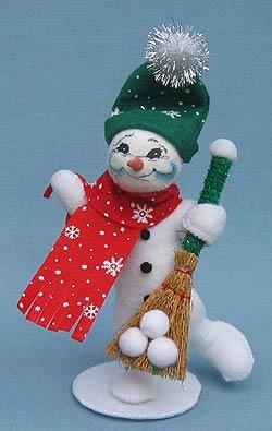 """Annalee 5"""" Classic Snowman - Mint - 748906"""