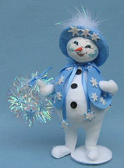 "Annalee 9"" Snowflake Snow Woman - Mint - 749706"