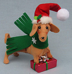"""Annalee 5"""" Dachshund Doggone Puppy Gift 2016 - Mint - 750316"""