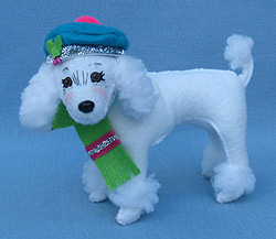 "Annalee 4"" Winter Whimsy Poodle - Mint - 750412"