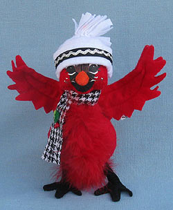 "Annalee 7"" Classy Cardinal with Hat & Scarf 2014 - Mint - 750714"