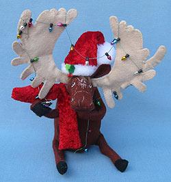 "Annalee 8"" Cozy Christmas Moose - Mint - 751512"