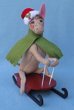 "Annalee 8"" Christmas Delights Sledding Donkey Mule - Mint - 751612"