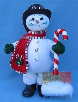 """Annalee 15"""" Peppermint Snowman - Mint - 753305"""