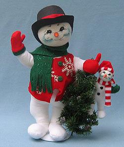 """Annalee 15"""" Snow Buddies - Mint - 753406"""