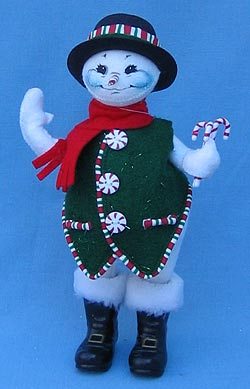 "Annalee 9"" Candyman Snowman - Mint - 754905"