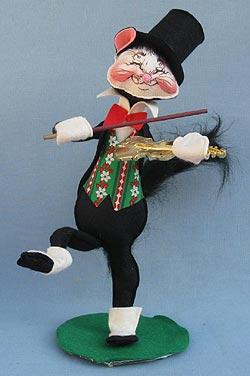 "Annalee 15"" Jazz Cat with Violin / Fiddle - Mint - 758585xx"