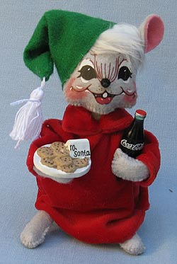 """Annalee 6"""" Coca-Cola Refreshing Treats for Santa Mouse - Near Mint - 760212a"""