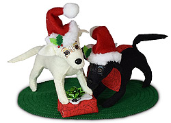 """Annalee 5"""" Christmas Morning Pups Dogs 2020 - Mint - 760320"""