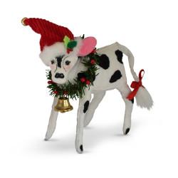 "Annalee 6"" Jinglebell Cow 2018 - Mint - 760418"