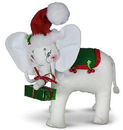 "Annalee 9"" Christmas Whimsy Elephant 2020 - Mint - 760420"