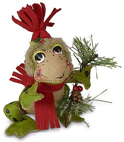 "Annalee 5"" Rustic Pine Frog 2020 - Mint - 760820"
