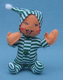"""Annalee 6"""" Green PJ Kid - Mint - 762706"""
