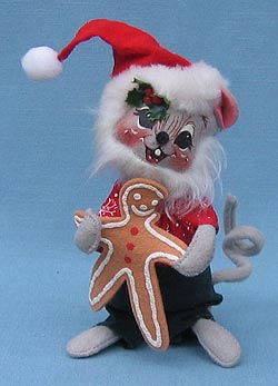 """Annalee 7"""" Taste of Christmas Mouse with Gingerbread - Mint - 770998"""