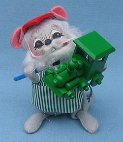 "Annalee 7"" Workshop Mouse Painting Train - Mint / Near Mint - 775091"
