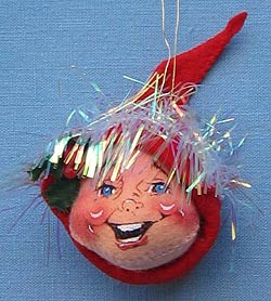 "Annalee 3"" Red Elf Head Ornament - Mint - 780296"
