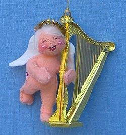 "Annalee 3"" Angel Playing Harp Ornament - Mint - 781995xo"