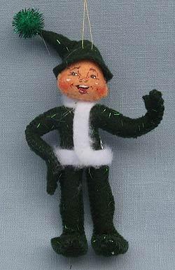 "Annalee 4"" Green Elf Ornament - Mint - 782204gr"