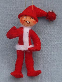 "Annalee 4"" Red Elf Ornament - Mint - 782204red"