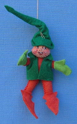 """Annalee 3"""" Red and Green Elf Ornament - Mint - 782287"""