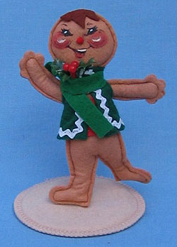 "Annalee 5"" Gingerbread Boy Ornament with Stand - Mint - 782591"