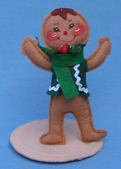 """Annalee 5"""" Gingerbread Boy Ornament with Stand - Mint - 782591ox"""