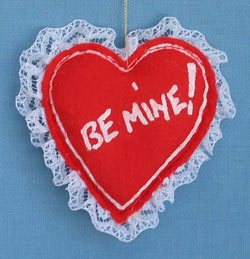 "Annalee 3"" Be Mine Heart Ornament - Mint - 785584"