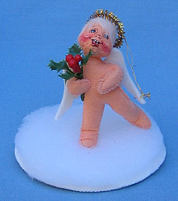 "Annalee 3"" Angel Hollyberry Ornament - Mint / Near Mint - 787996"