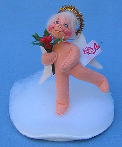"Annalee 3"" Angel Hollyberry Ornament - Mint / Near Mint - 787996ox"