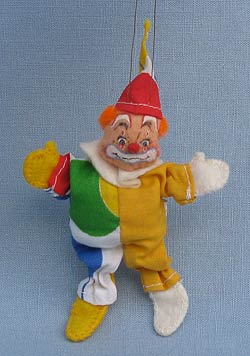 "Annalee 3"" Clown Ornament - Yellow - Mint - Signed - Museum - 794586ysox"
