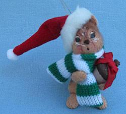 "Annalee 3"" Christmas Chipmunk Holding Acorn Ornament - Mint - Prototype - 794903p"