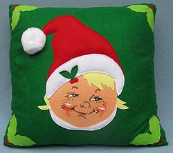 "Annalee 18"" Appliqued Elf Pillow - Mint - 800310"