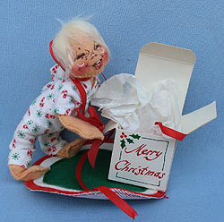 """Annalee 7"""" Christmas Morning Kid - Excellent - 801584xoa"""