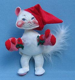 """Annalee 10"""" Kitten with Mittens - Mint - 806487"""