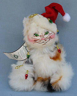 """Annalee 10"""" Calico Kitty Cat with Lights - Excellent - 809205oxa"""
