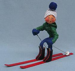 """Annalee 10"""" Downhill Skier - Mint / Near Mint - 815084ooh"""