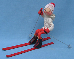 """Annalee 10"""" Downhill Skier - Excellent - 815085w"""