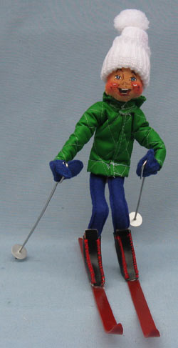 """Annalee 10"""" Downhill Skier - Mint- Signed - 815088shey"""