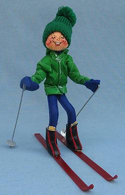 """Annalee 10"""" Downhill Skier - Mint / Near Mint - 815088xo"""