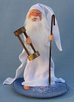 """Annalee 10"""" New Years Father Time - Excellent - 820292a"""