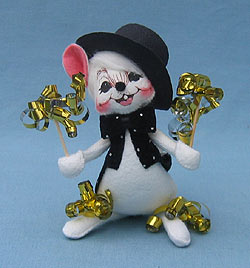 """Annalee 6"""" Party Mouse - Mint - 820503"""