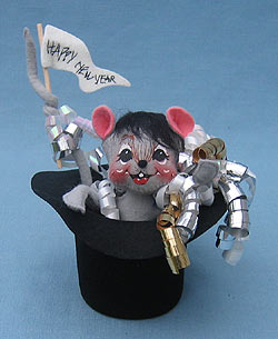 "Annalee 7"" Happy New Year Mouse - Mint / Near Mint - 820599"